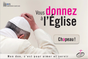 donner à l'église catholqie
